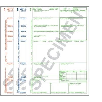 CMR Vrachtbrieven Laser 321 ongenummerd