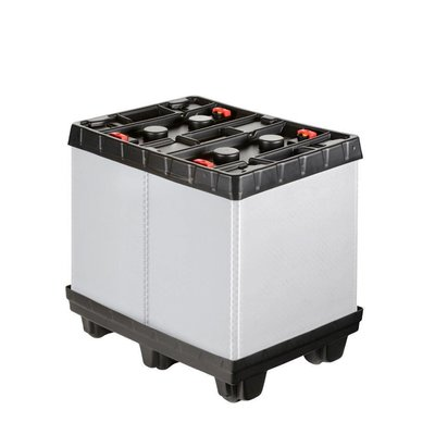 Inklapbare kunststof palletbox 810x612x765mm