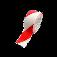 Markeertape 50mm breed - rood/wit