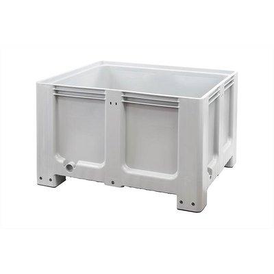 Gebruikte kunststof palletbox 1200x1000x760mm - 4 poten, gesloten