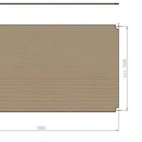 Spaanplaat plaat 1850x1005x12mm - voor dubbel mobile rack
