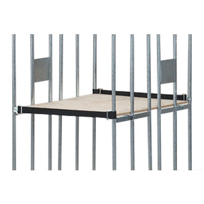 Houten multiplex legbord 750x600x10mm - met lange strip, antidiefstal