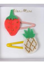 Meri Meri Pineapple and strawberry hair clips