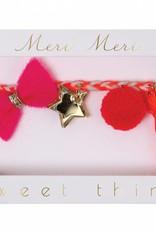 Meri Meri Pink Plaited Bracelet