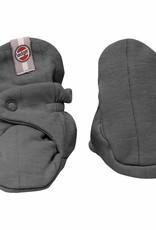 Lodger babyslofjes katoen Solid carbon