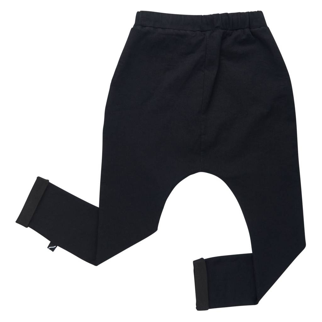 CarlijnQ Black denim pocket sweatpants