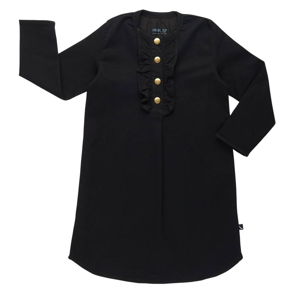 CarlijnQ Black denim tunic dress