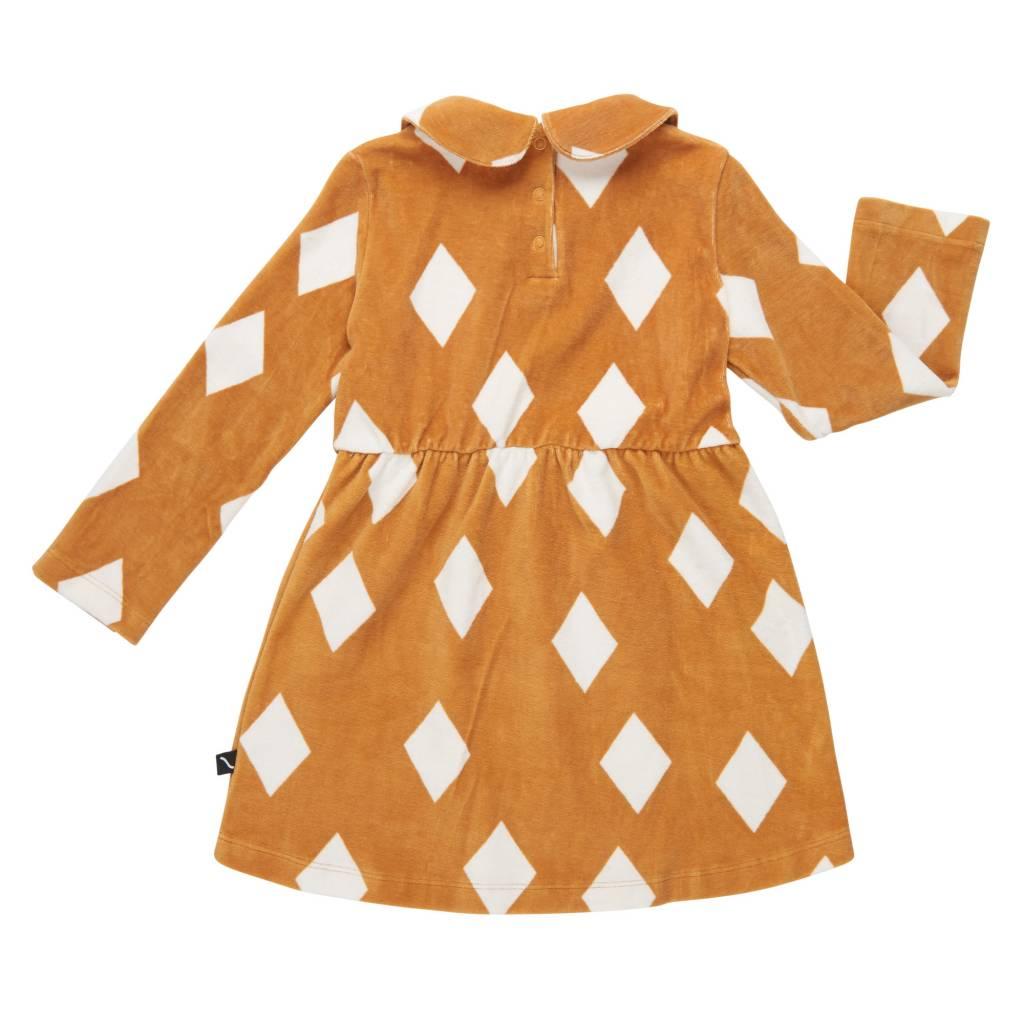 CarlijnQ Diamands ochre collar dress