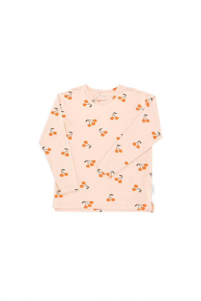 Tiny Cottons Cherries ls relaxed tee