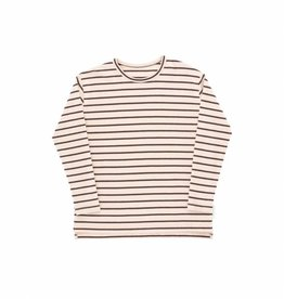 Tiny Cottons Small stripes relaxed tee nude/plum
