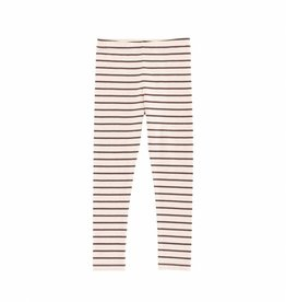 Tiny Cottons Small stripes pants nude/plum