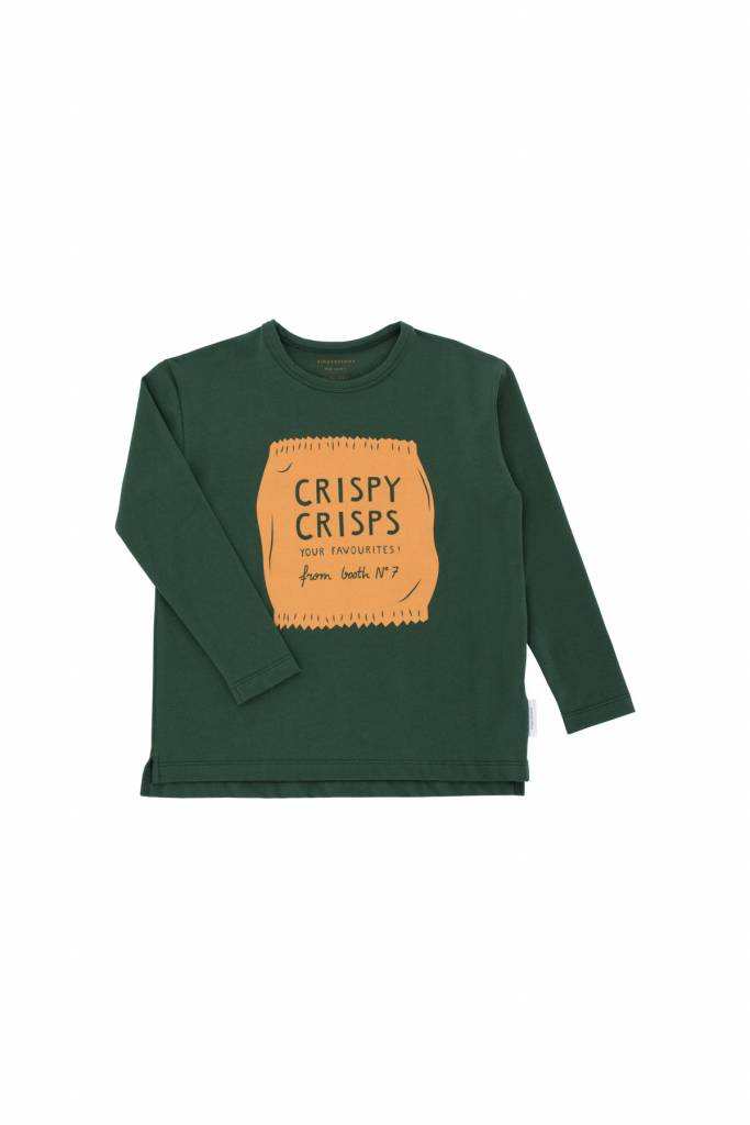 Tiny Cottons Crispy crips graphic tee dark green