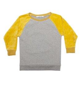 Mingo Velvet sweater grey melange/sauterne
