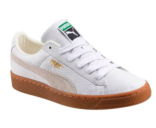Puma Basket Classic Gum deluxe JR White
