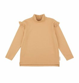 Tiny Cottons Solid mockneck tee dark nude