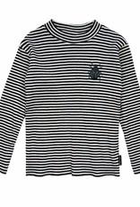 Sproet & Sprout T-shirt turtle neck beetle black & milk stripe