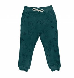 Sproet & Sprout Sweat pants bugs allover dark forest green