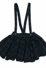 Sproet & Sprout Skirt check black & forrest green