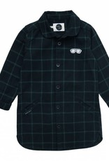 Sproet & Sprout Shirt dress check black & forrest green