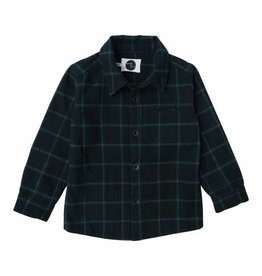 Sproet & Sprout Shirt check black with forrest green