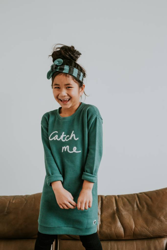 Sproet & Sprout Sweat dress catch me forrest green