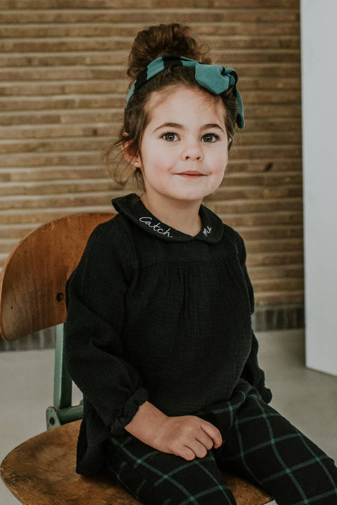 Sproet & Sprout Headband black & forest green stripe
