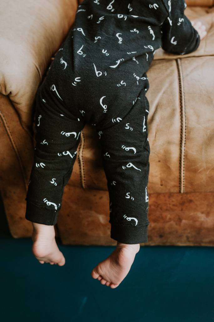 Sproet & Sprout Legging skinny bugs letters black