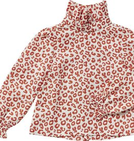 Maed for mini Red leopard AOP blouse