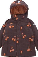 Tiny Cottons Big cherries snow jacket plum/red