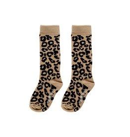 Maed for mini Sahara leopard knee socks