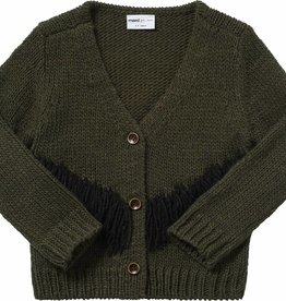 Maed for mini Tense turtle knit cardigan