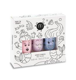 Nailmatic Set of 3 water based nail polish Bella-Elliot-Merlin