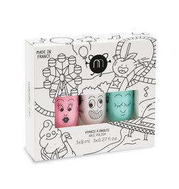 Nailmatic Set of 3 water based nail polish Candy looping twist
