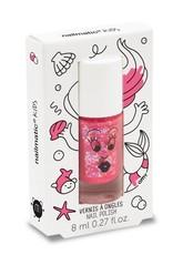 Nailmatic Glitter pink water based nail polish Sissi