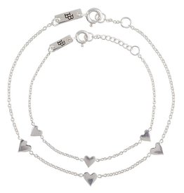 Lennebelle Petites You are loved Moeder & Dochter cadeauset armband Zilver