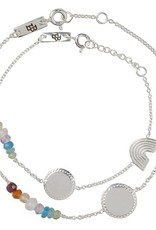 Lennebelle Petites She is a Rainbow Moeder & Dochter cadeauset armband Zilver