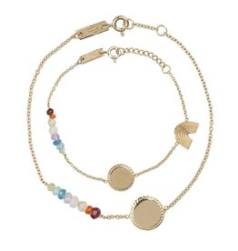 Lennebelle Petites She is a Rainbow armband Verguld