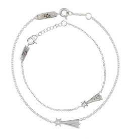 Lennebelle Petites You make my wishes come true Moeder & Dochter cadeauset armband Zilver