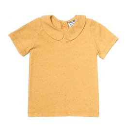CarlijnQ Shirt with collar basics yellow