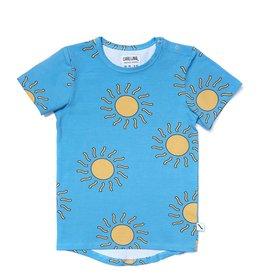 CarlijnQ T-shirt short sleeve drop back big sun