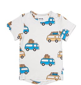 CarlijnQ T-shirt short sleeve drop back road trippin'