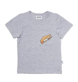 CarlijnQ Sandwiches t-shirt grey melange + embroidery