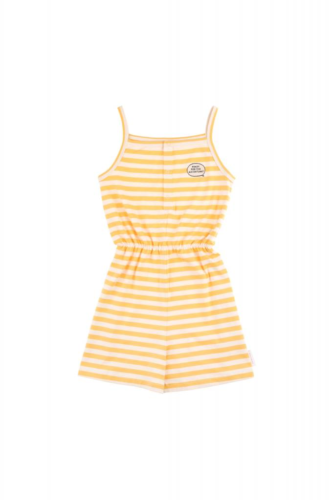 Tiny Cottons Aventure stripes romper cream/canary