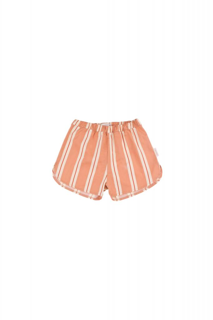 Tiny Cottons Retro stipes short terracota/cream