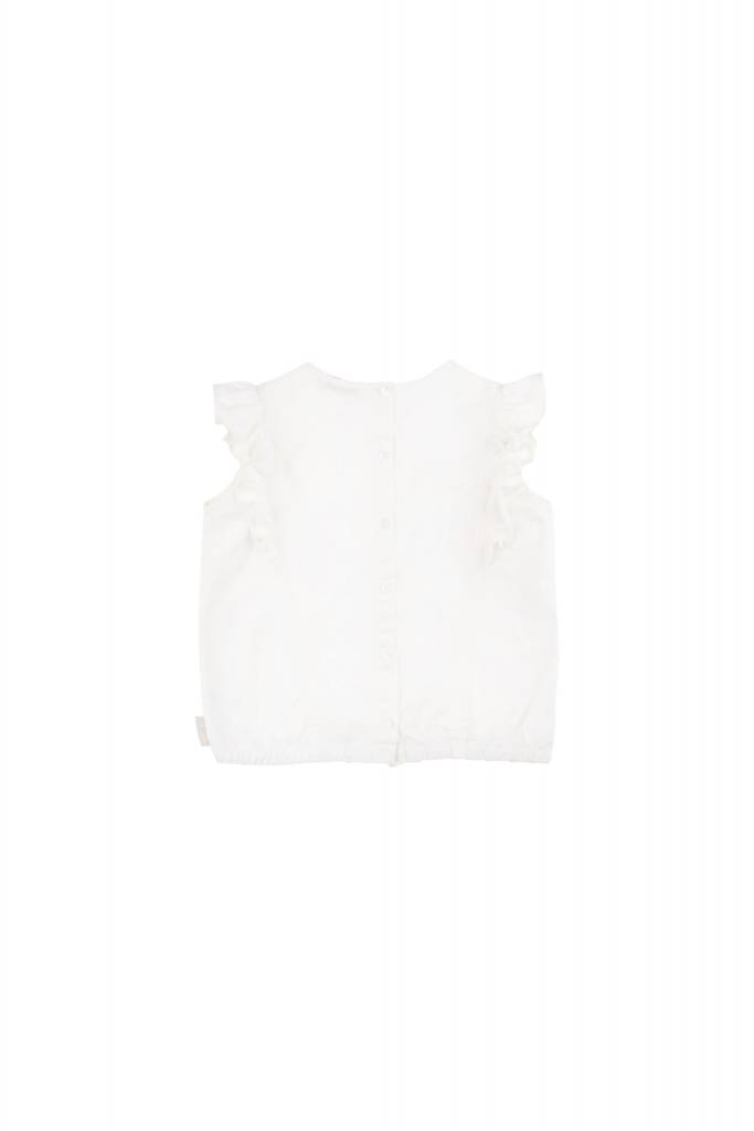 Tiny Cottons BFF'S Ruffles blouse off white-red