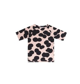Mingo T-shirt double dot print peach pink/black