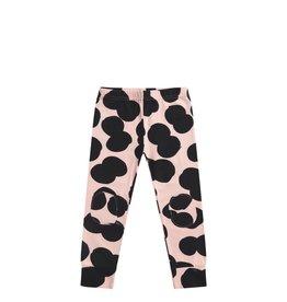 Mingo Legging double dot print peach pink/black