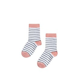 Mingo Socks striped/ peach pink