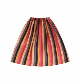 Maed for mini Rainbow Raccoon skirt long