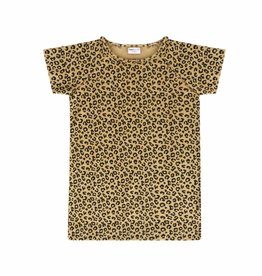 Maed for mini Yellow Leopard dress short sleeve